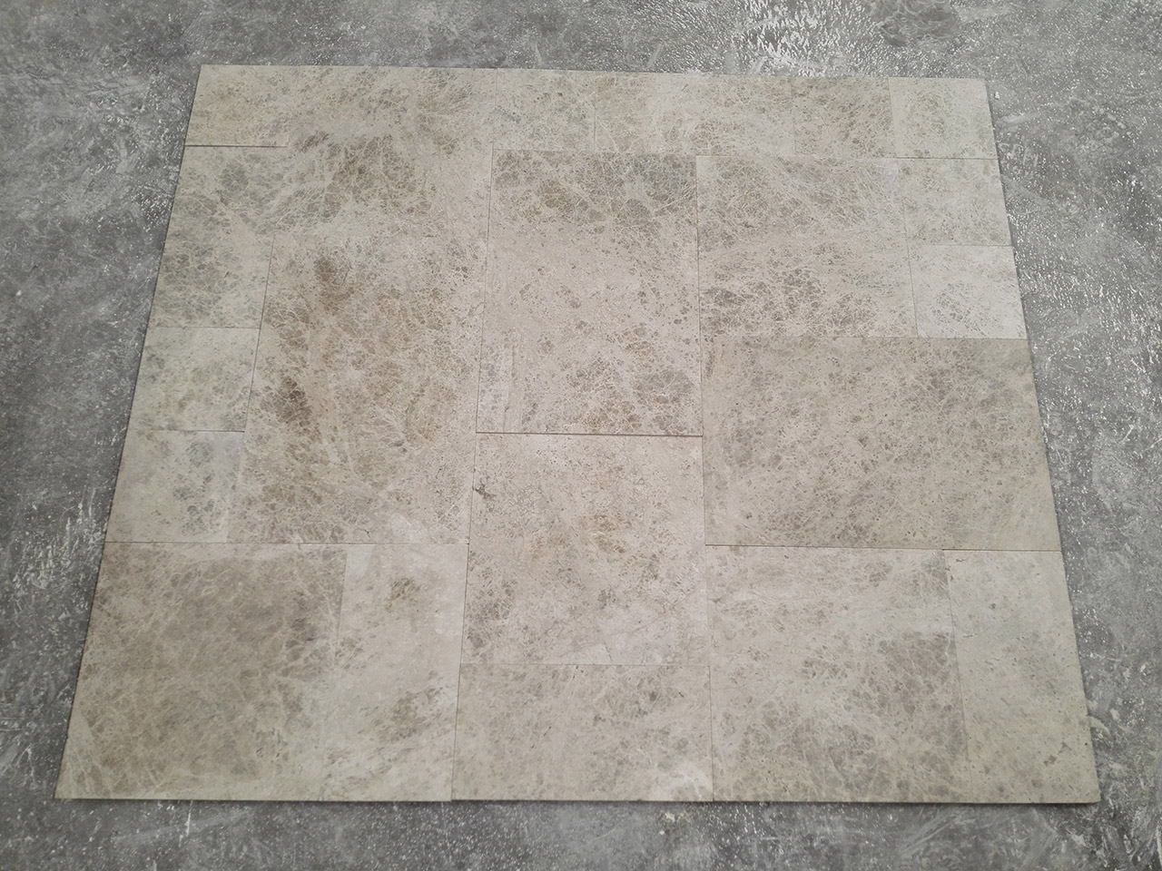 Silver Brushed Marble