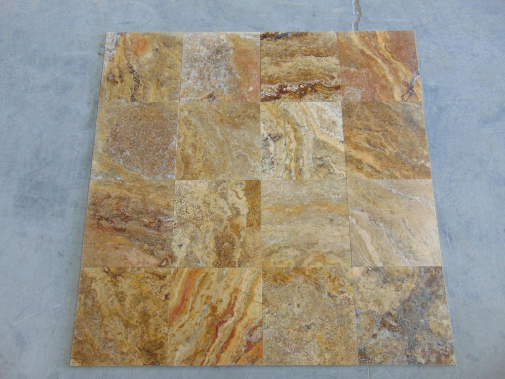 Scabos Filled&Honed Travertine