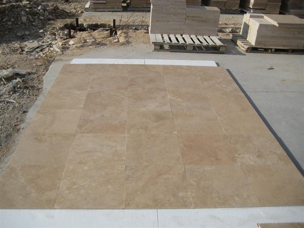 Light Walnut Filled&Honed Travertine
