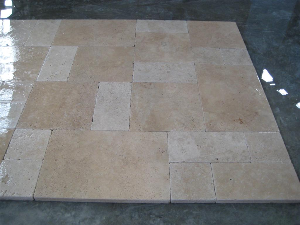 Light Walnut Tumbled  Pavers